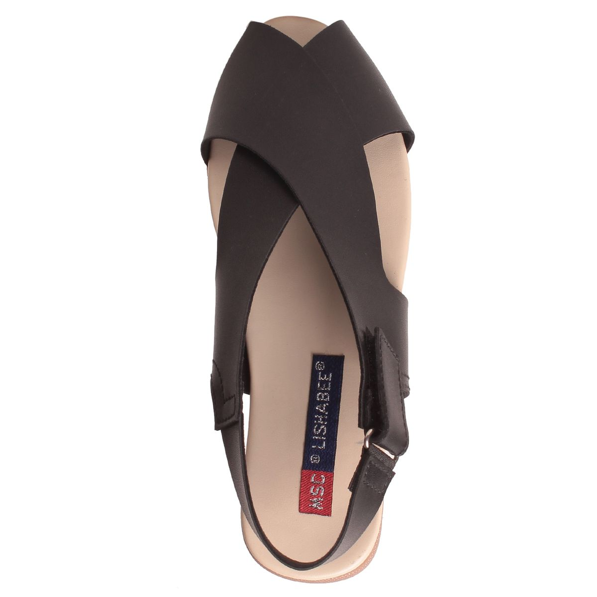Msc Women Synthetic Black Sandal2