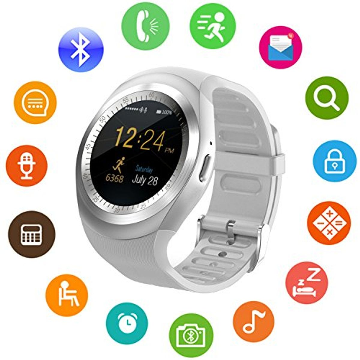 Buy Jm Y1 White Silver Analog Digital Smart At Lowest Price Watch With Call Function Jmrdss644