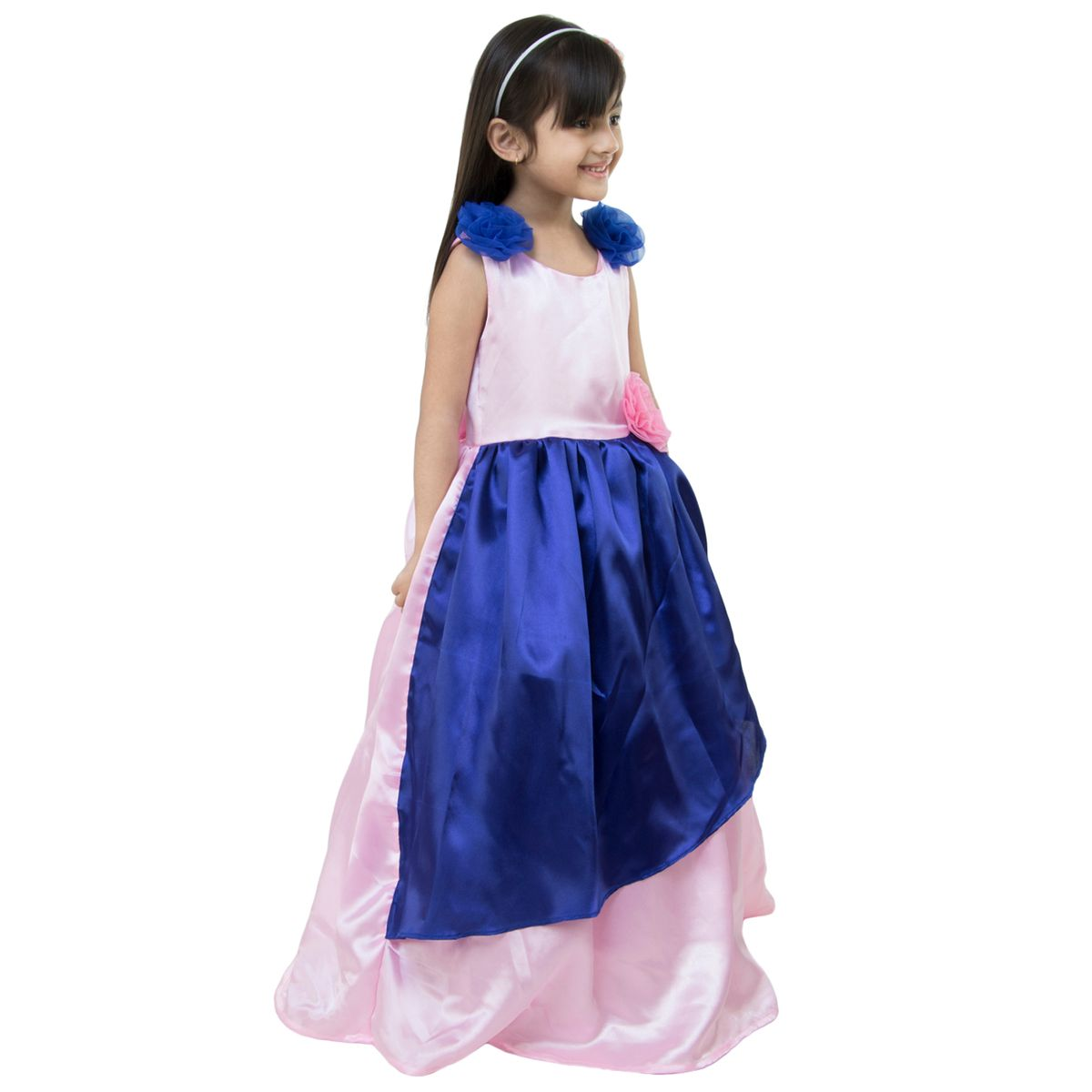 eb50225a4 Buy Samsara couture Girls Pink Blue Solid at Lowest Price ...
