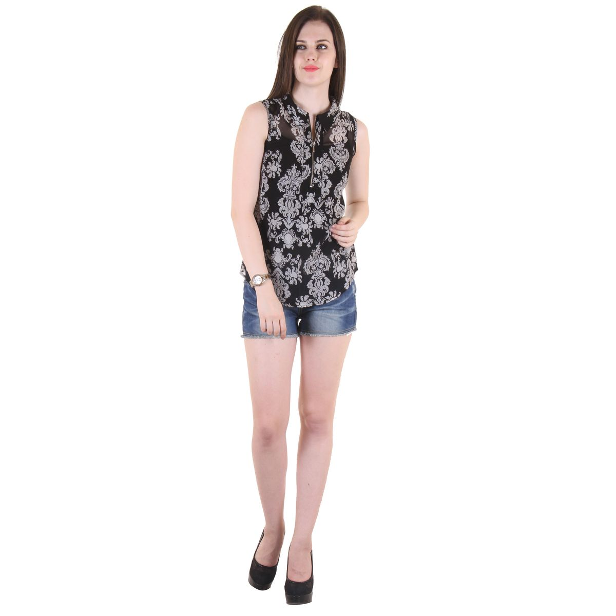 Womens Stylish Printed Top36