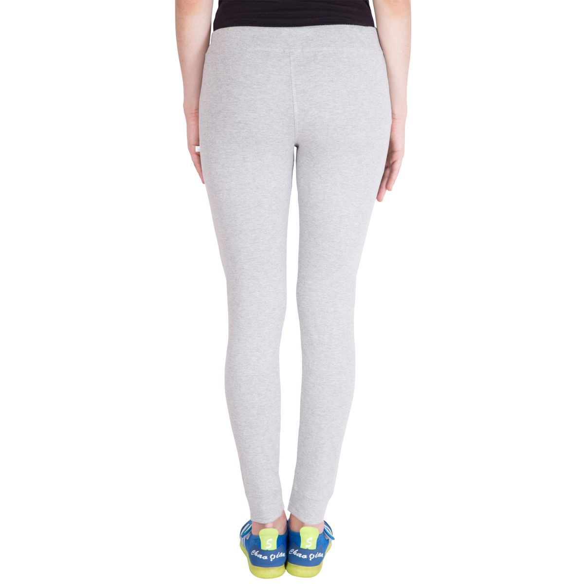 American-Elm Womens Grey Solid Track Pant