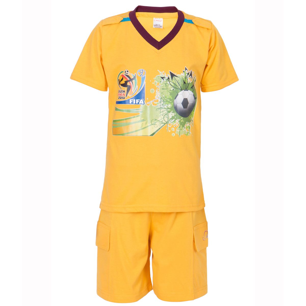 Ultrafit Junior Boys Cotton MultiColored Twin Sets- Pack of 5238