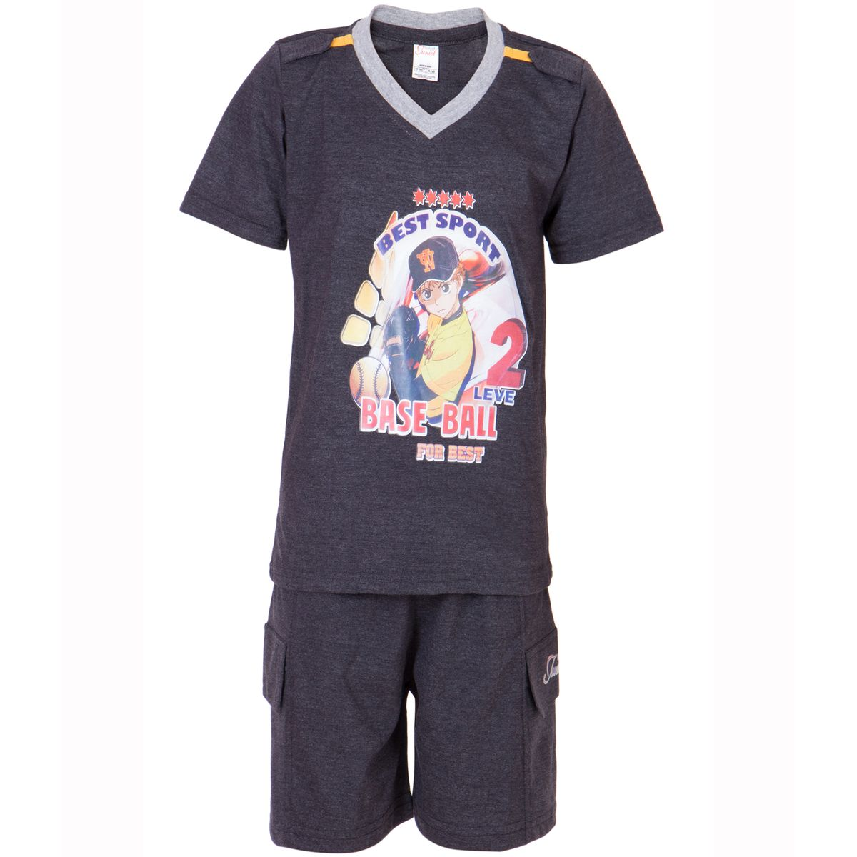 Ultrafit Junior Boys Cotton MultiColored Twin Sets- Pack of 3233