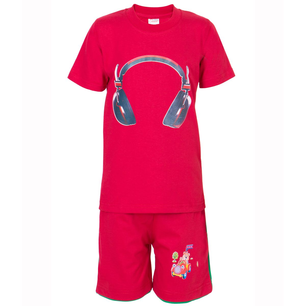 Ultrafit Junior Boys Cotton MultiColored Twin Sets- Pack of 2217