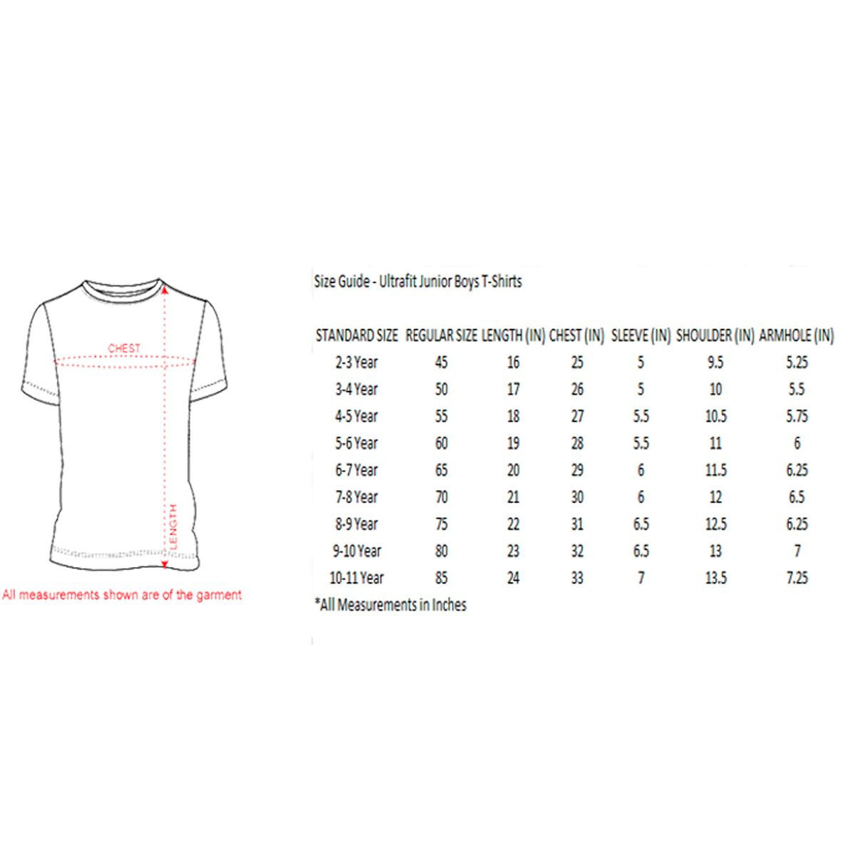 Ultrafit Junior Boys Cotton T-Shirt- Pack Of 2- Red Black