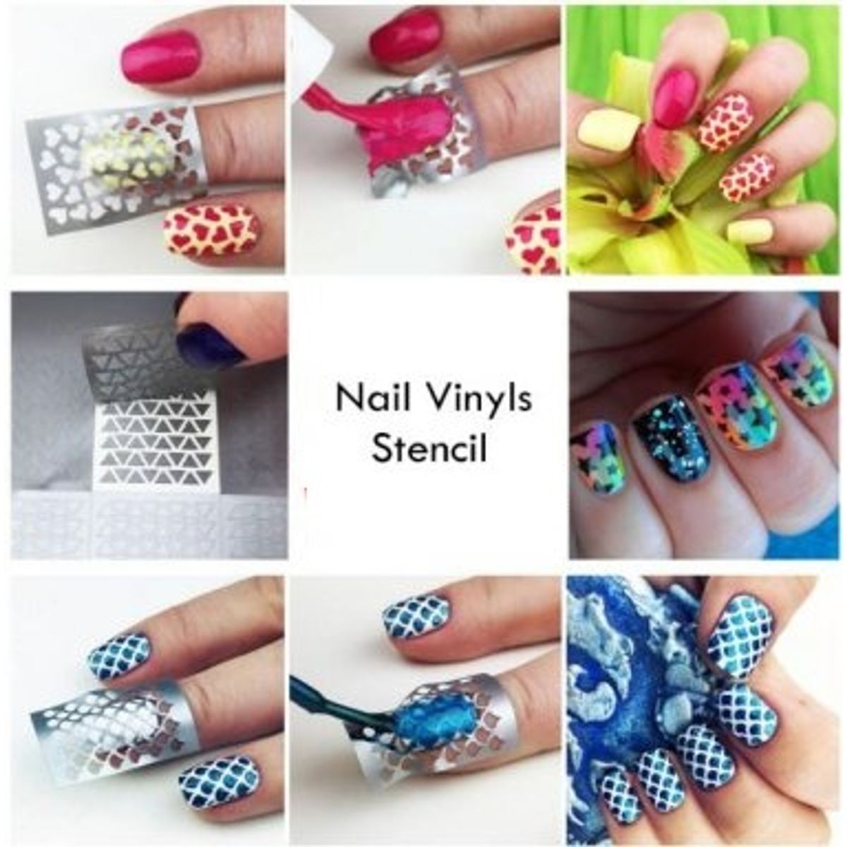 Buy Buyaly Nail Art Vinyl Stencil Template at Lowest Price ...
