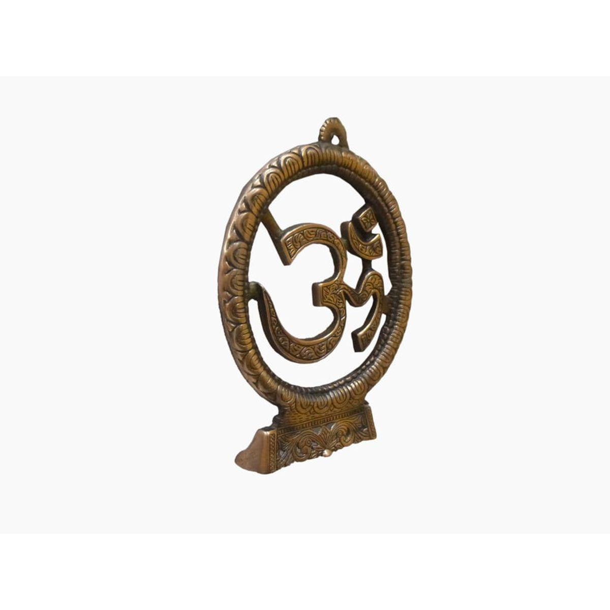 Craftofy Wall Hanging Metallic Swastik Symbol With Om and Ganesha