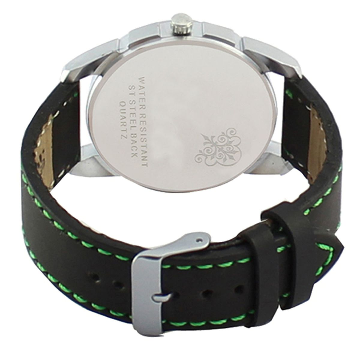 The Shopoholic Analog Multicolour Dial Black Leather Belt Watches Men-Watches Boys