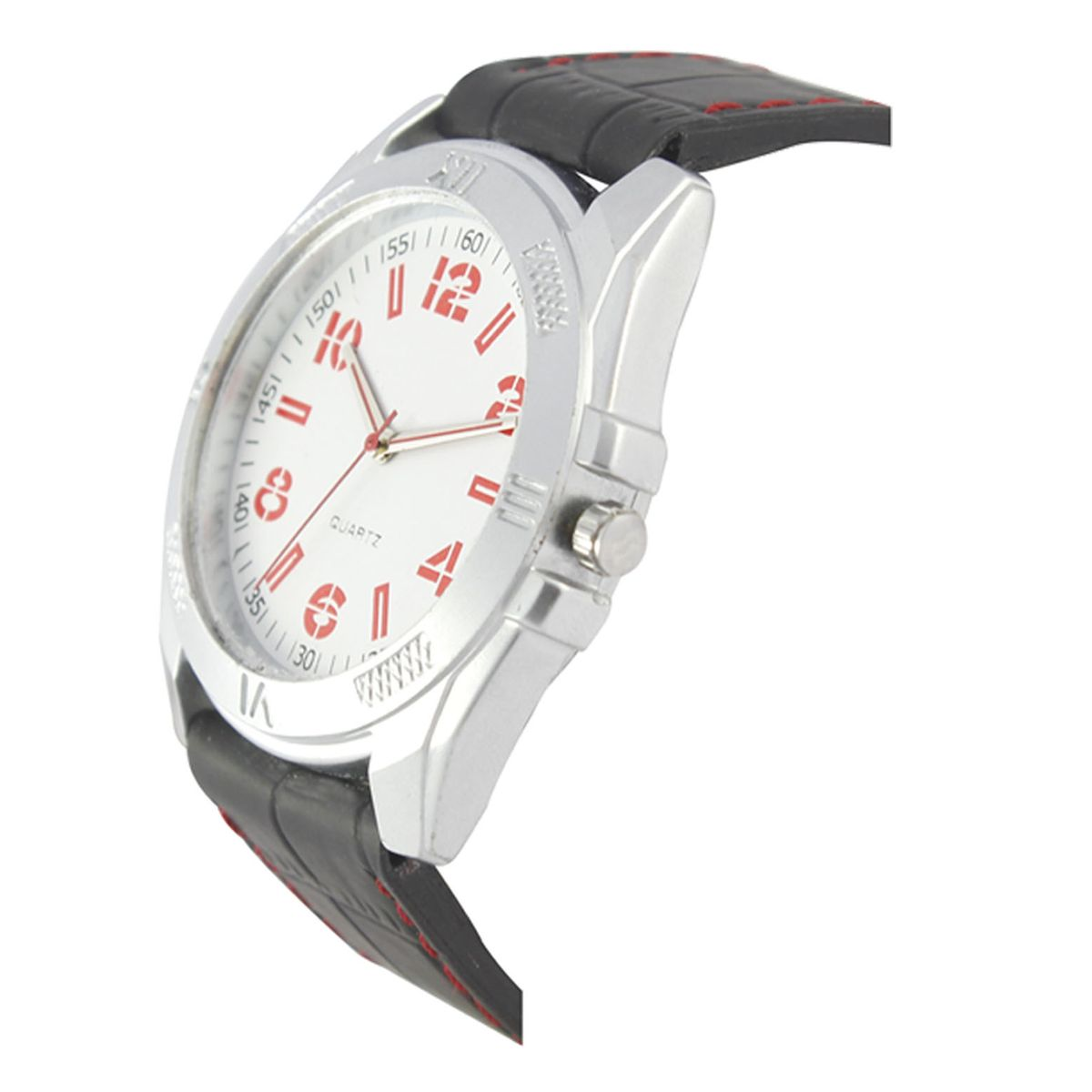 The Shopoholic Analog White Dial Black Leather Belt Watches For Men-Watches For Boys