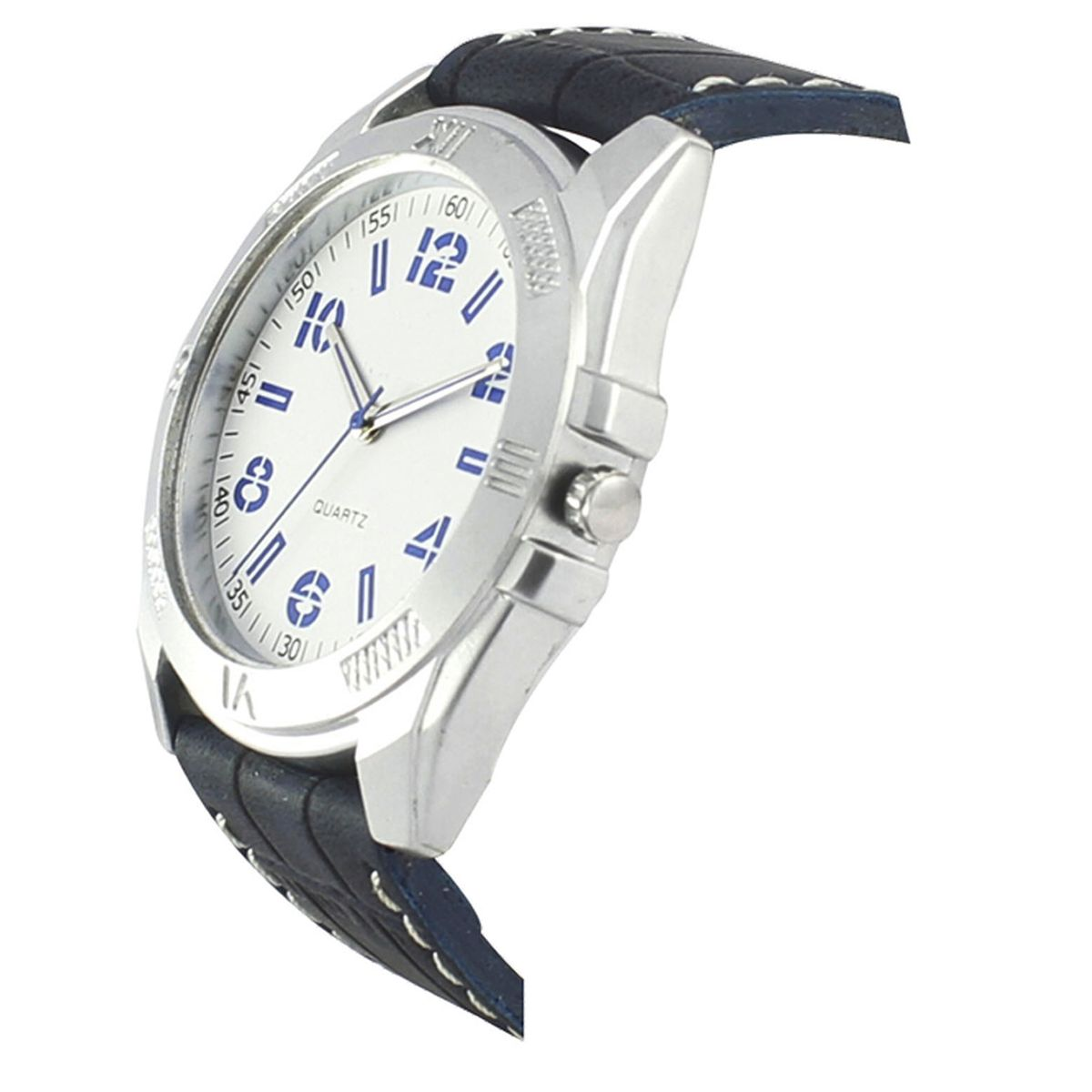 The Shopoholic Casual Analog Newest Arrival White Dial Black Leather Belt Watches For Boys-Men Watch