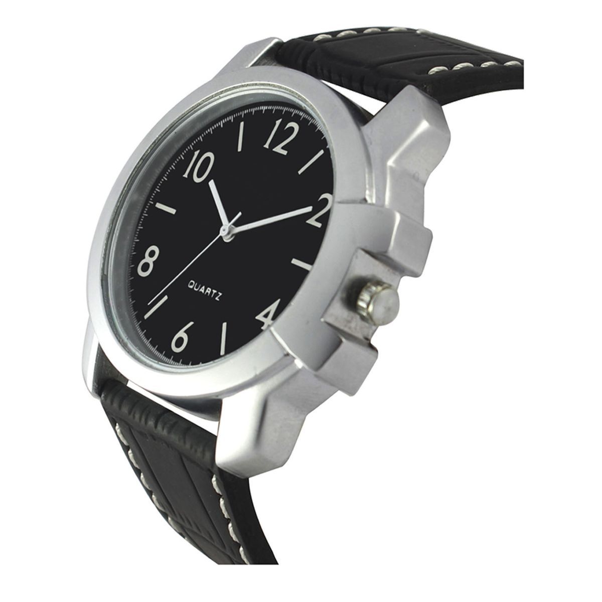 The Shopoholic Designer Analog White Dial Black Leather Belt Watches For Men-Boys Watch