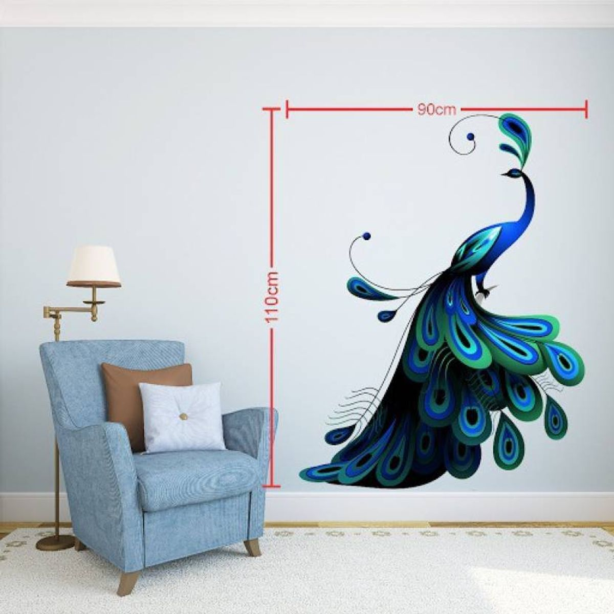Extra Large Wall Stickers Sticker  Pack of 1