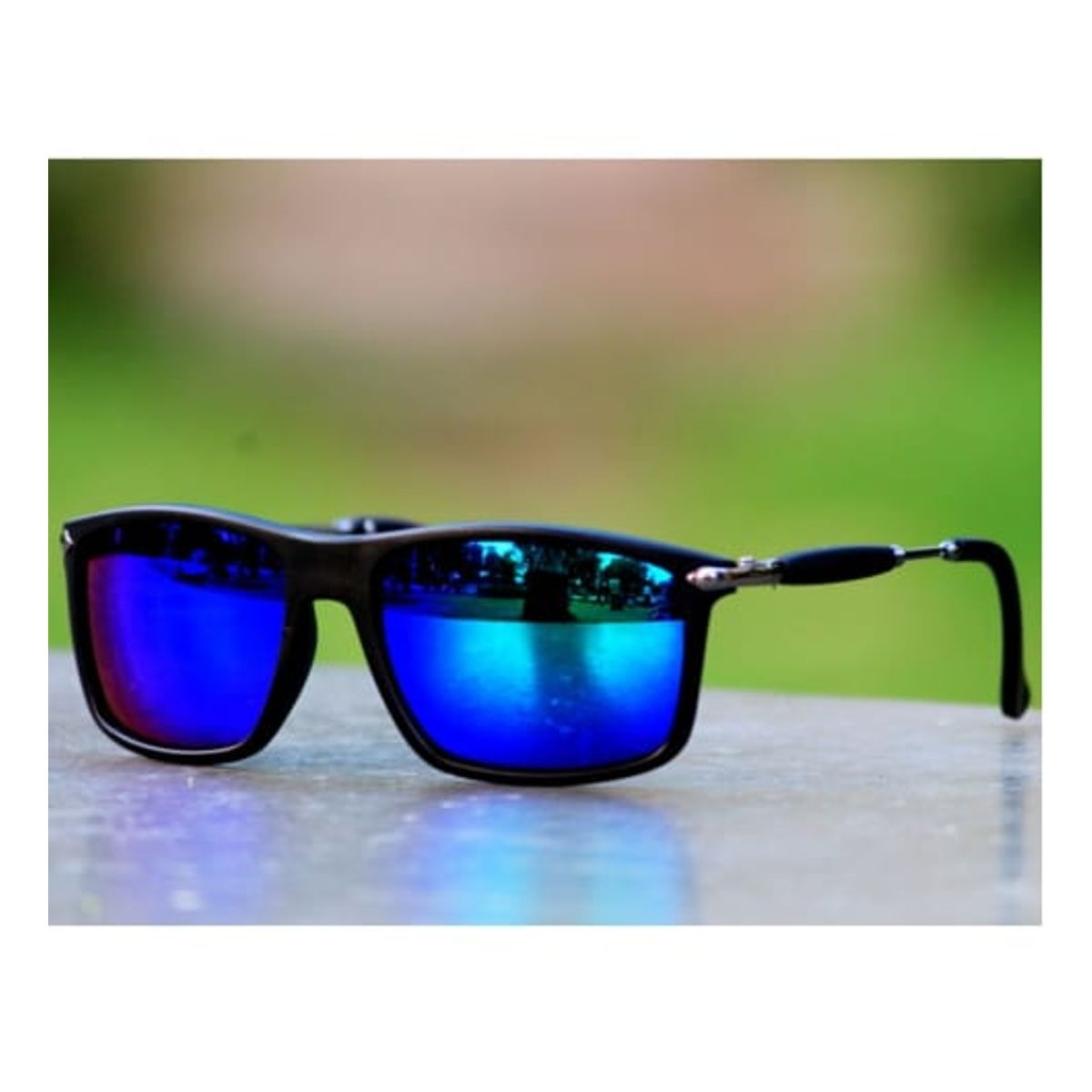 Sunglasses Blue Type Mercury Fancy Square Goggles for Unisex