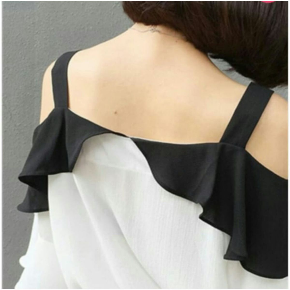 Cold Should Ruffle Sleeve Blouse