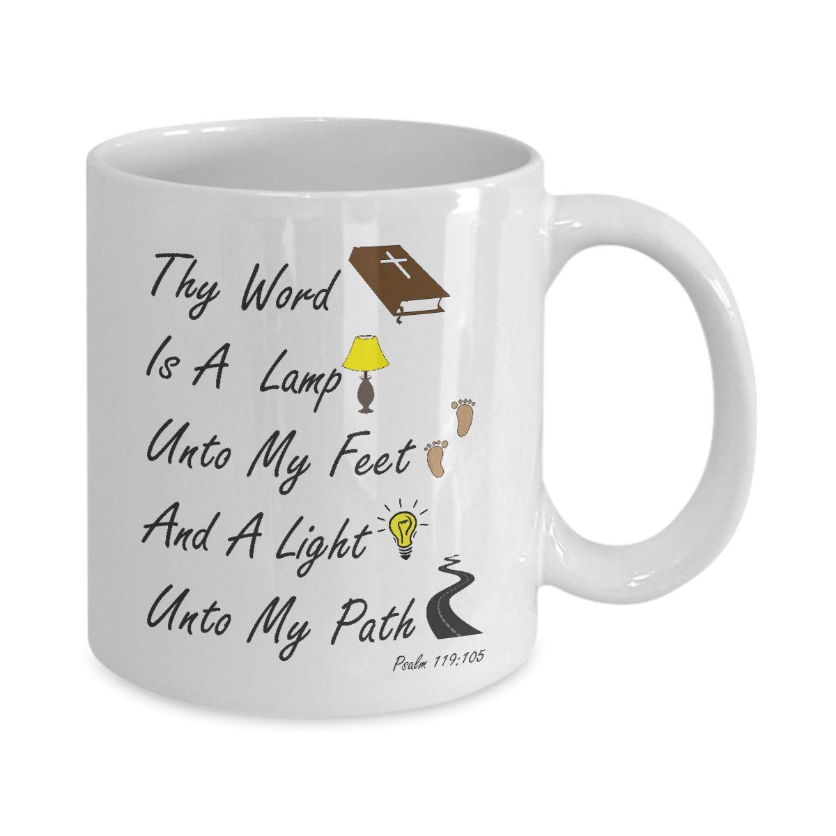 Biblical  Christian Coffee Mug - Thy Word Is A Lamp....