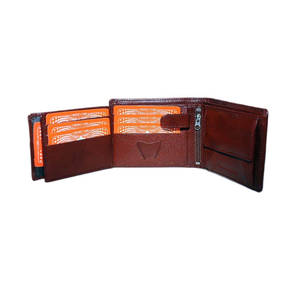 Leather Design Brown Leather Designer Bi-fold Men Regular Wallet6