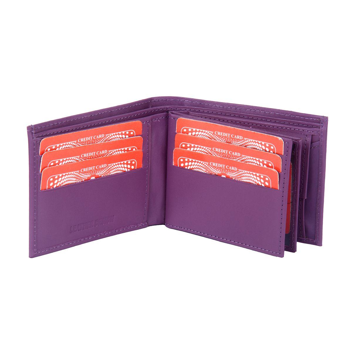 Leather Design Purple Leather Wallet For Men2