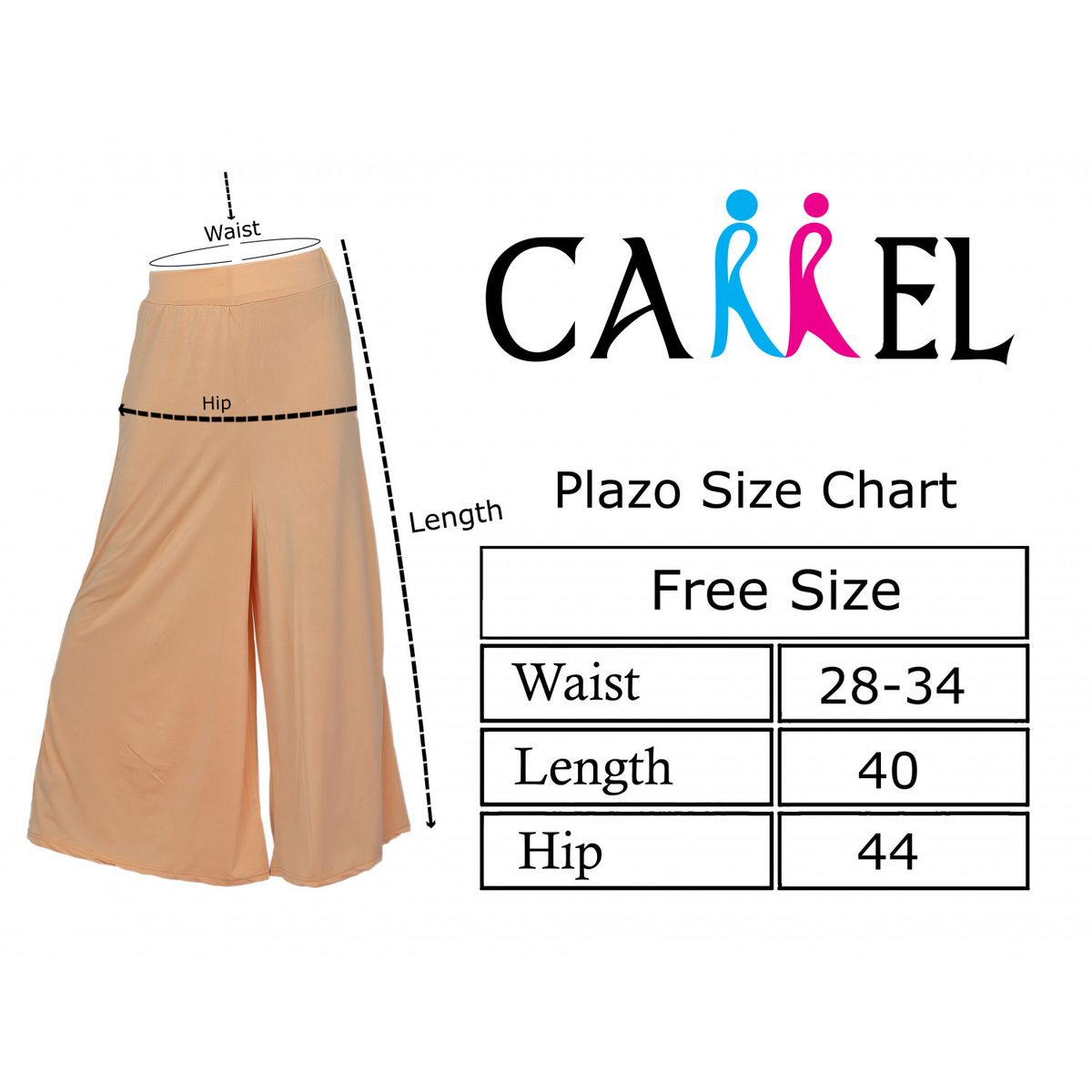 Carrel Imported Lycra Fabric Free Size Women Solid Flared Palazzo Pant