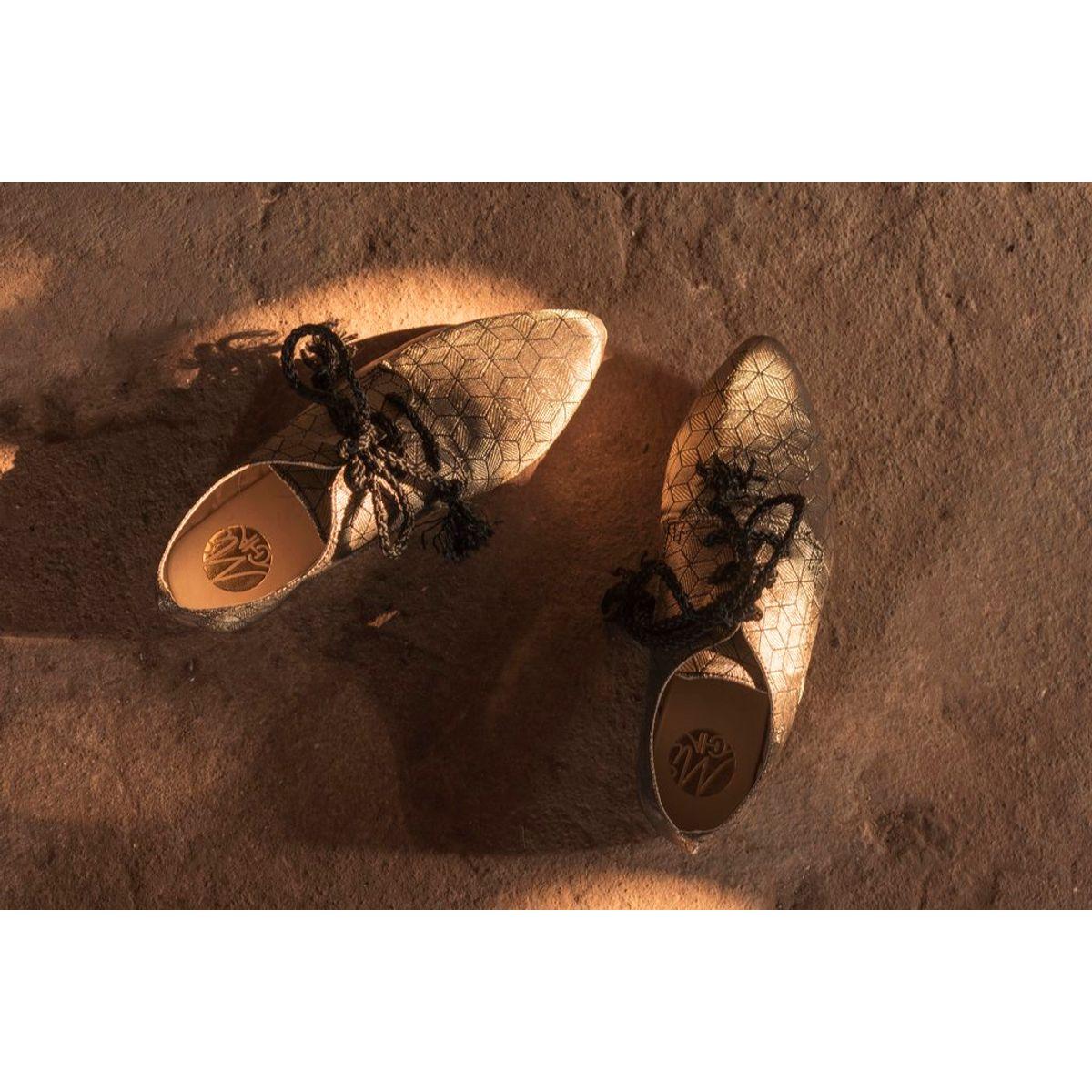 MiCHA golden black designer shoe