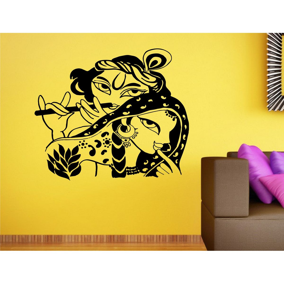 Buy Heaven Decors Radha Krishna Black Wall at Lowest Price ...