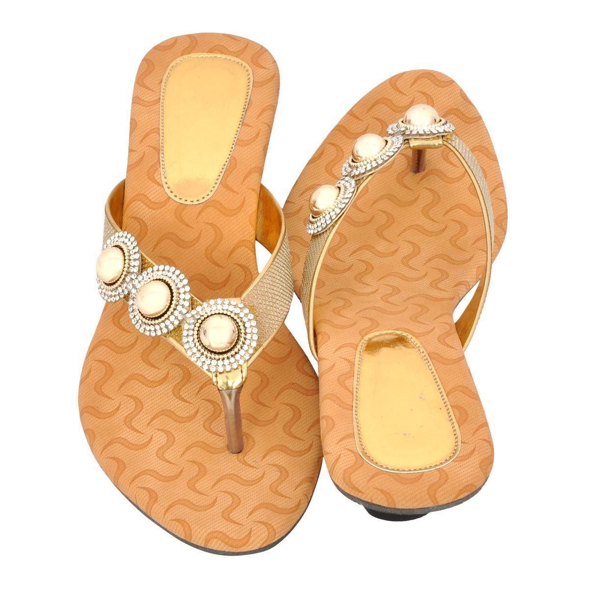 Altek Designer Gold Kitten Heel Sandal