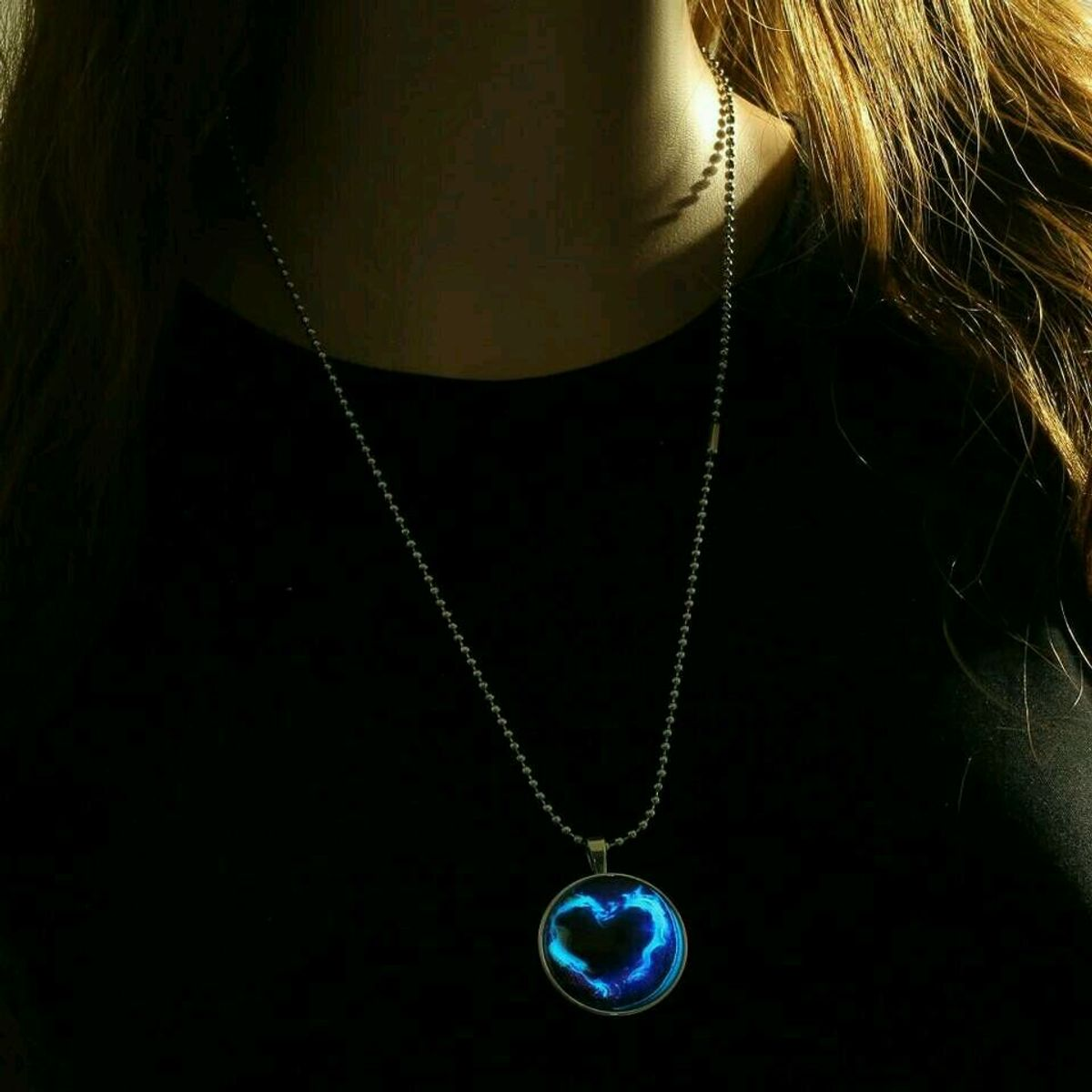 necklaces dark from jewelry item photo moon plated glowing glow pendant art cabochon silver the in necklace cat fine