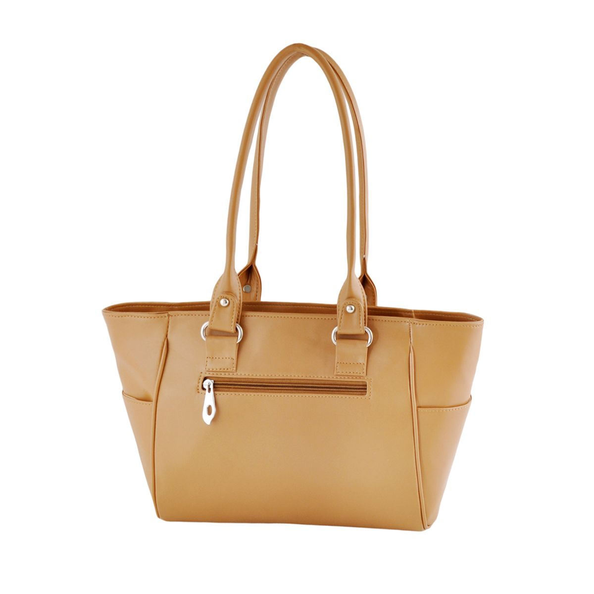 Goldmine Designer Hand Bag For Girls and Womens Beige Party Ware