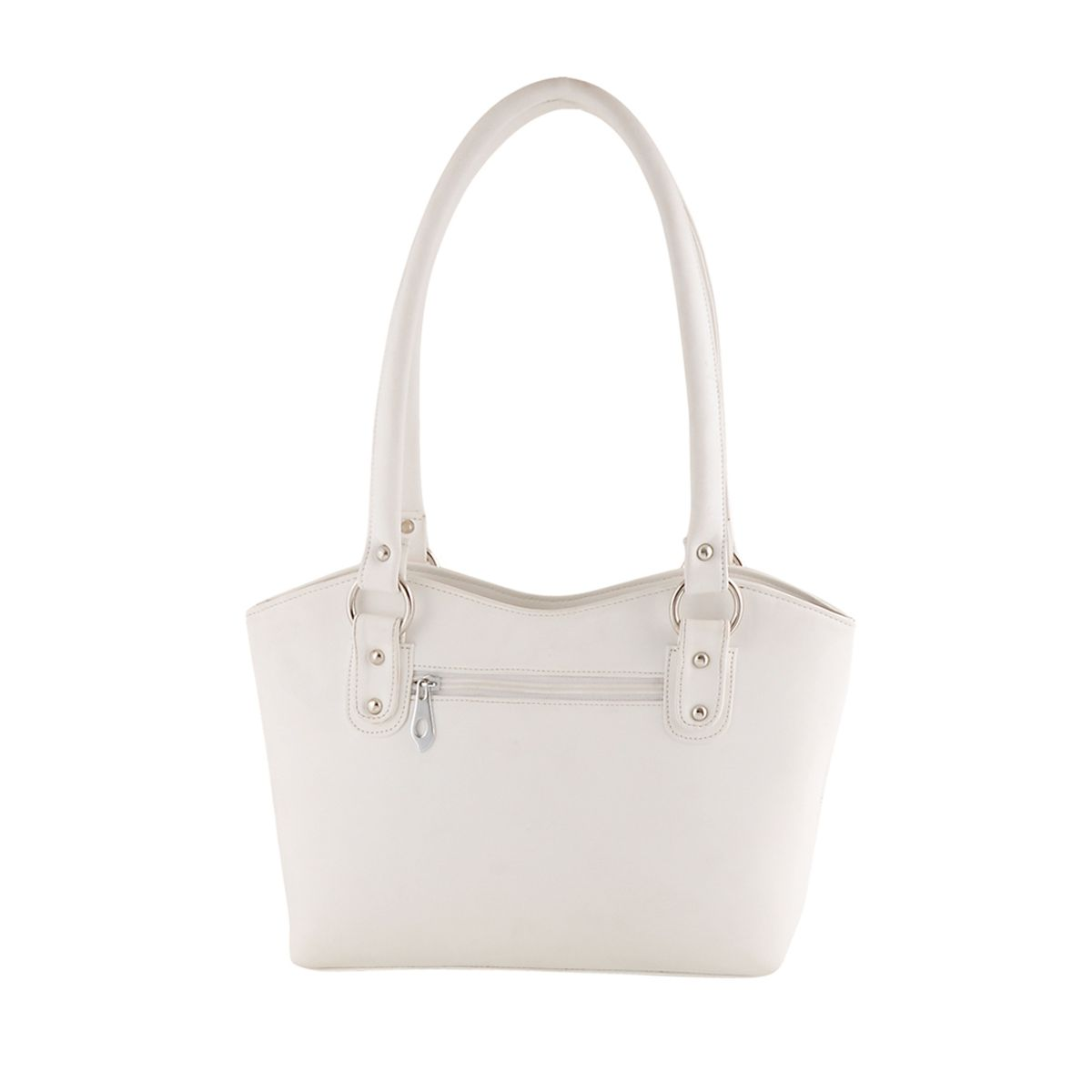 Goldmine Designer Hand Bag For Girls and Womens White Party Ware