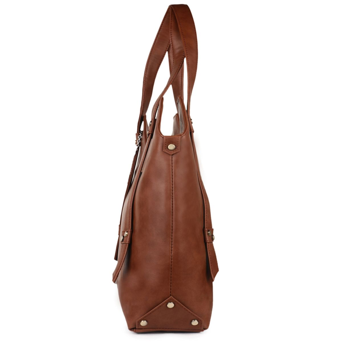Goldmine Designer Hand Bag For Girls and Womens Brown Party Ware