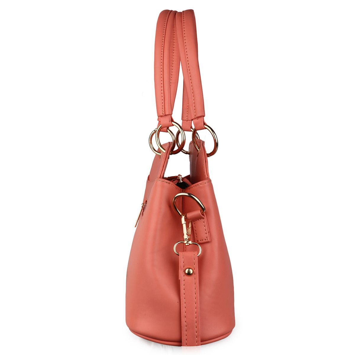 Goldmine Designer Sling Bag For Girls and Womens Peach Party Ware