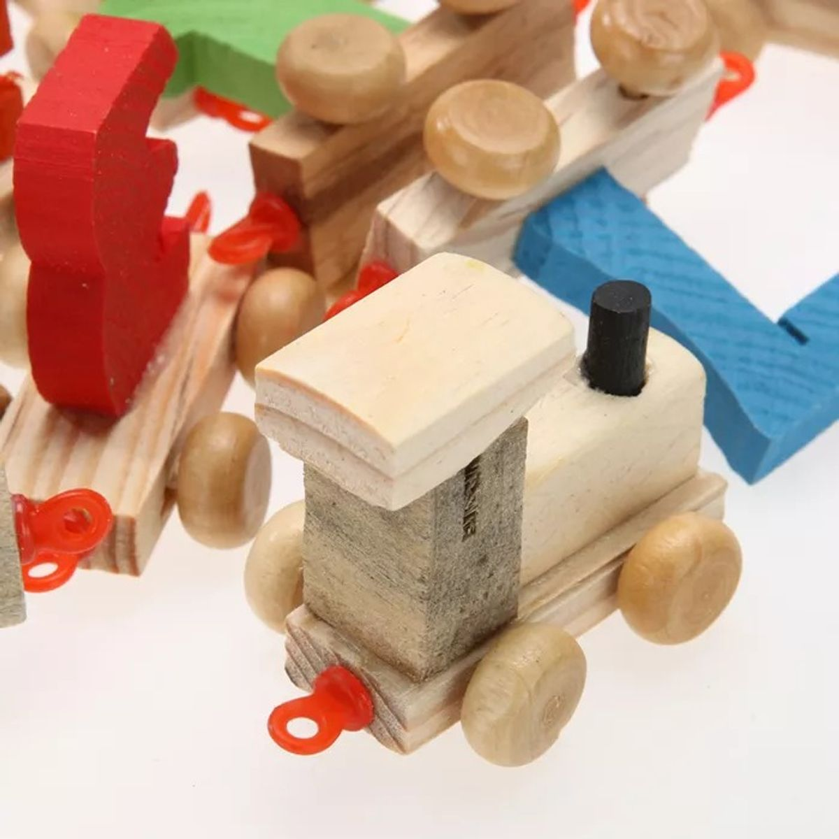 Onlineshoppee Wooden Educational Toy Numbers Train