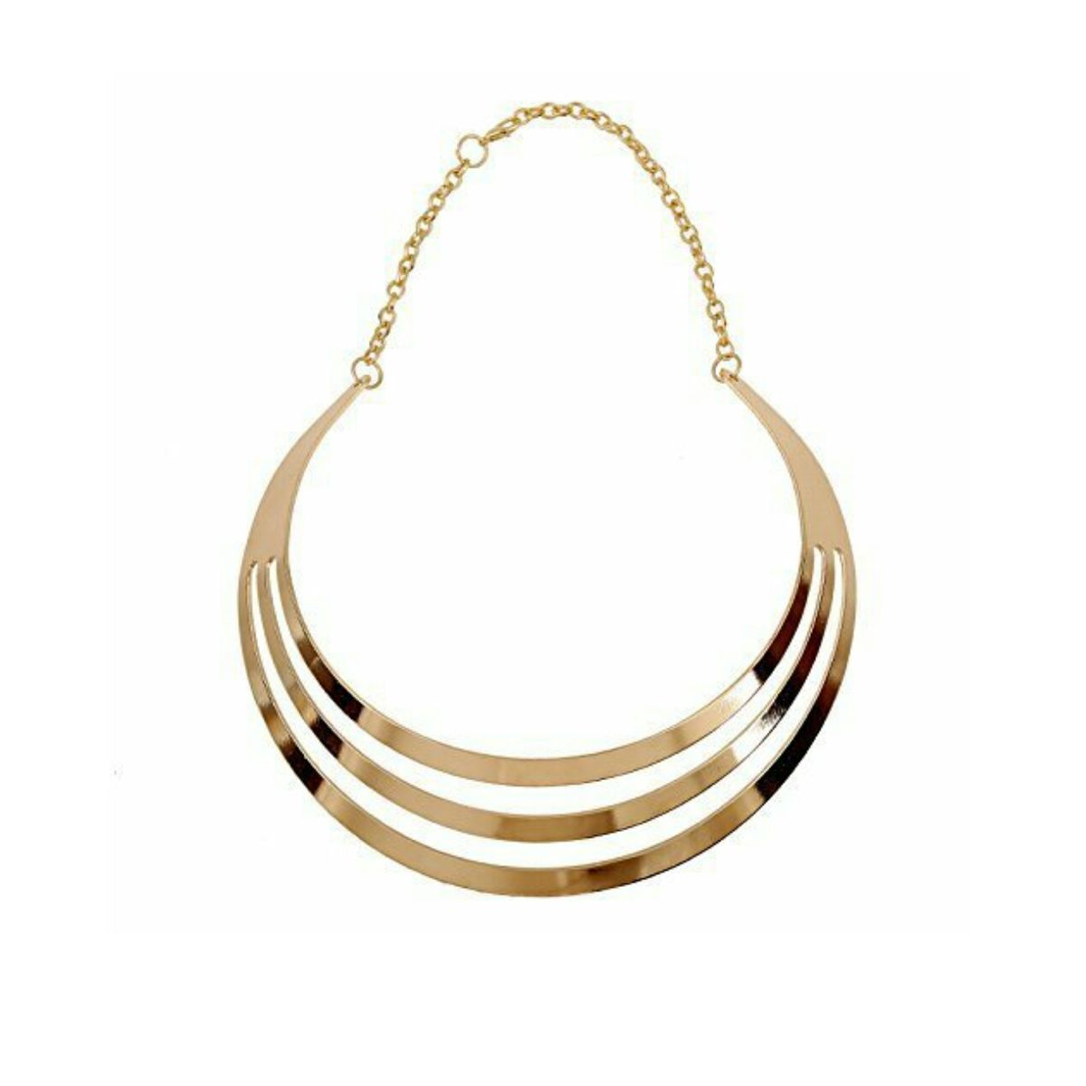 Golden Multilayered Classy Choker Adjustable Necklace