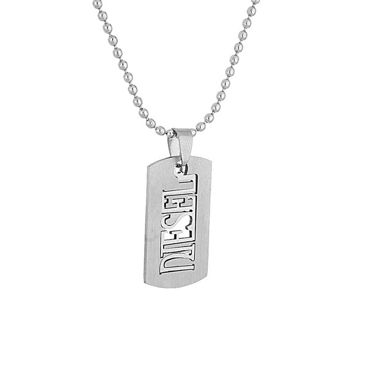products necklace tungsten engraved men s simple personalized plate pendant steel crisscross img