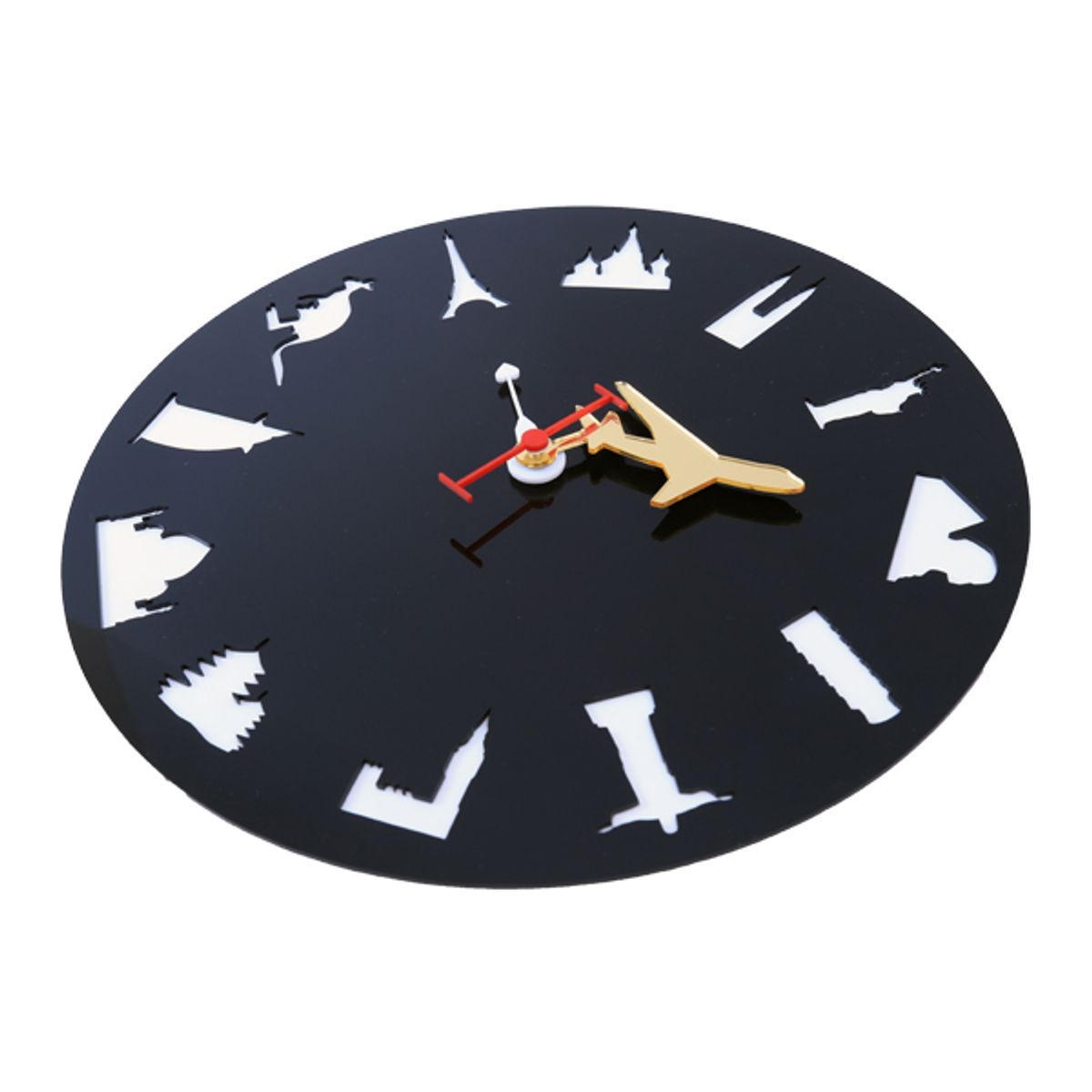 Wall Clock  I Love Travel  Unique Round Handmade Gift for Travel Lovers