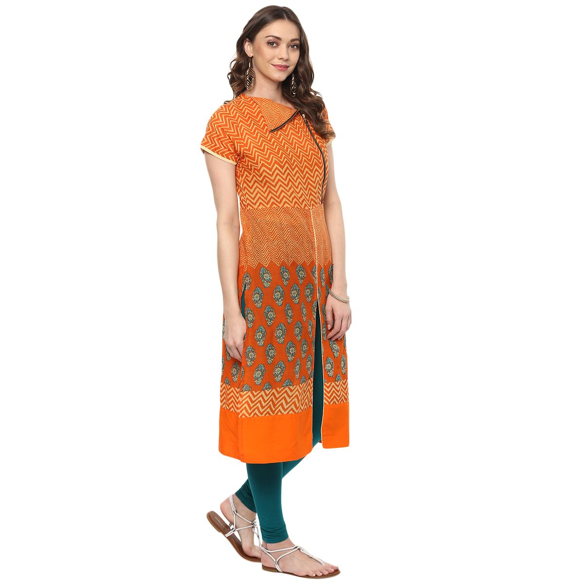 Vedic Womens Half Sleeved Cotton Kurti 03
