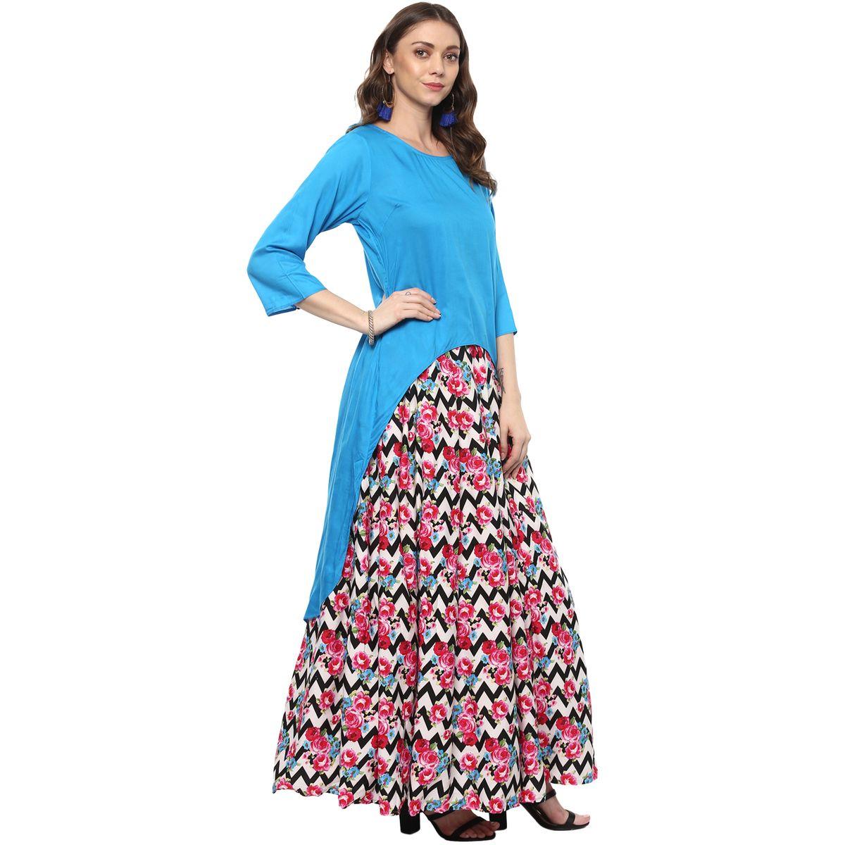 Vedic Womens Kurti featuring 34th Sleeves 33