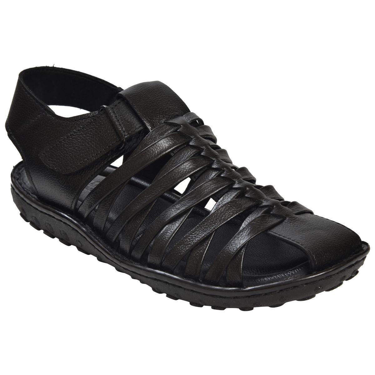 Ajanta Mens Office Sandals - Black GB0409