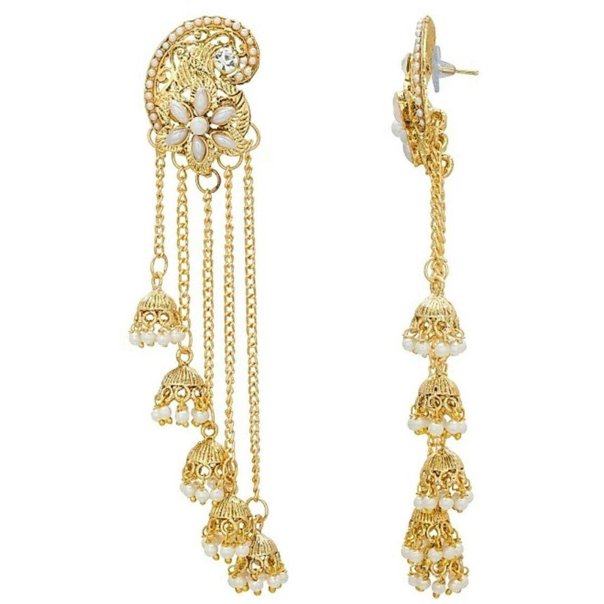 Long Chain Tassel Earring Jhumki Earring