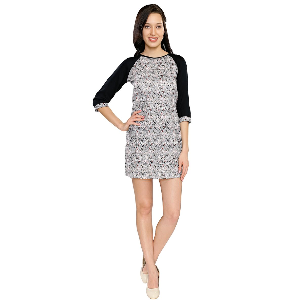 Smarty Pants Womens Printed Casual Dress