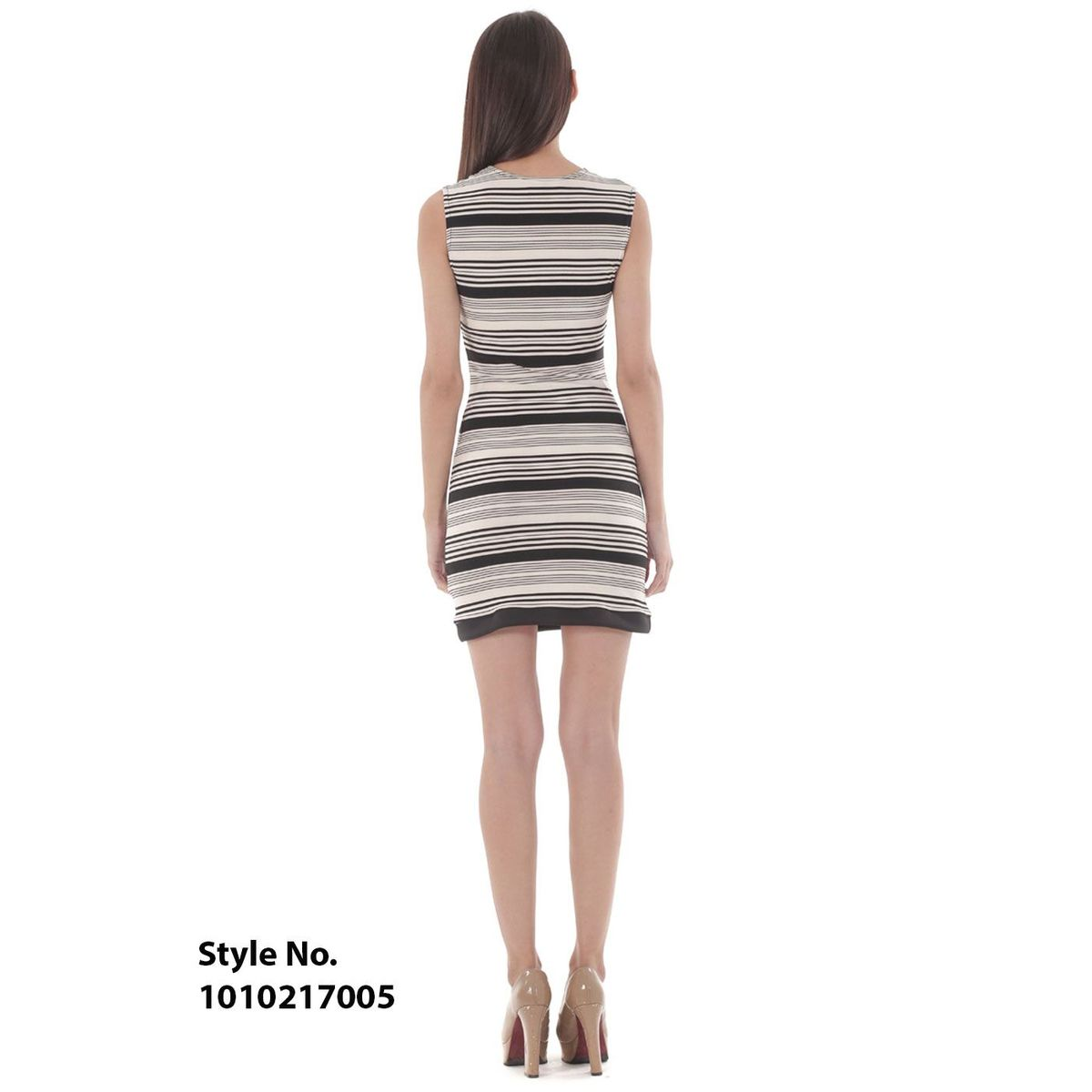 Smith Williams Black  White Stripes Dress