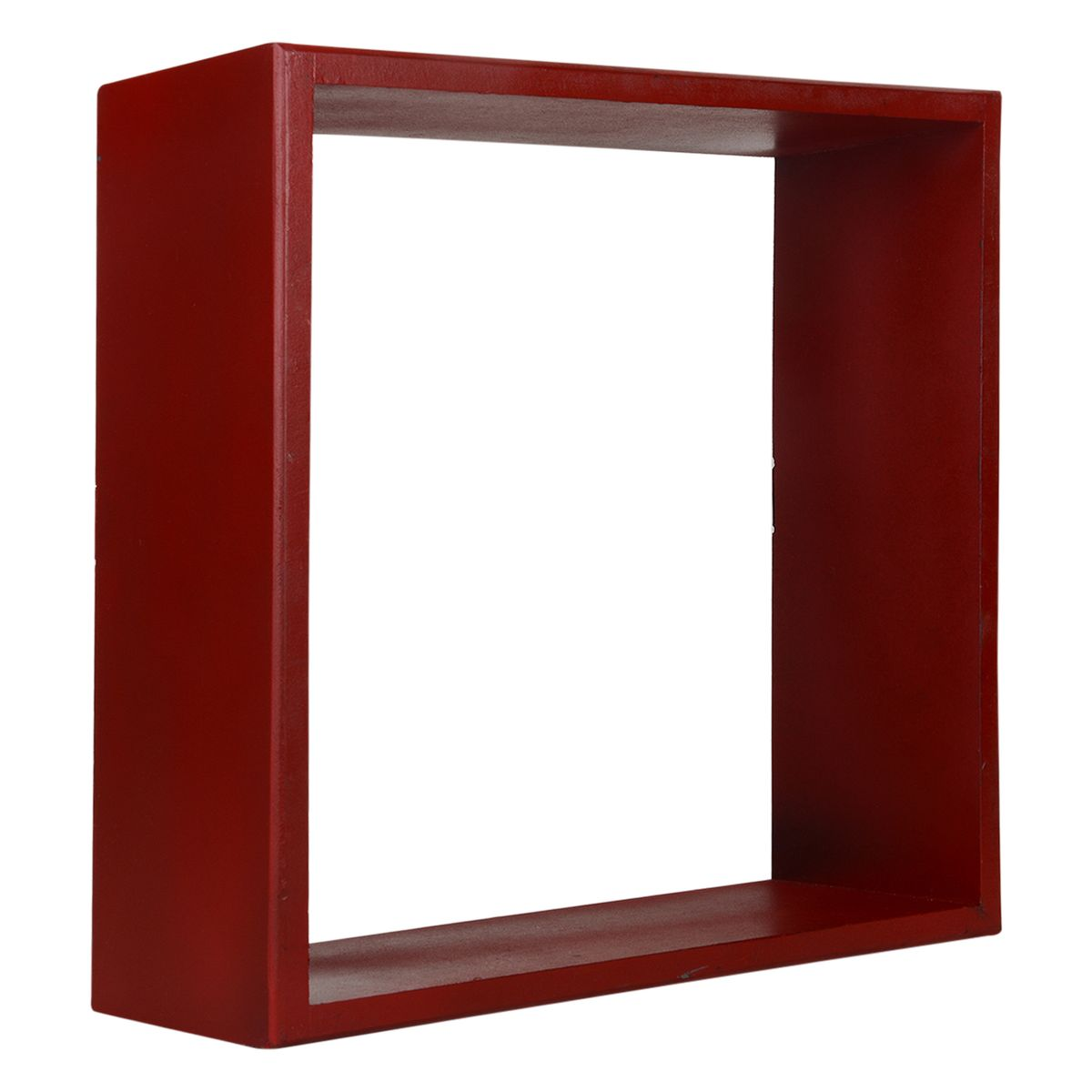 Vintageware Decorative Wall Shelf for Home  Office Set of 3 - Red
