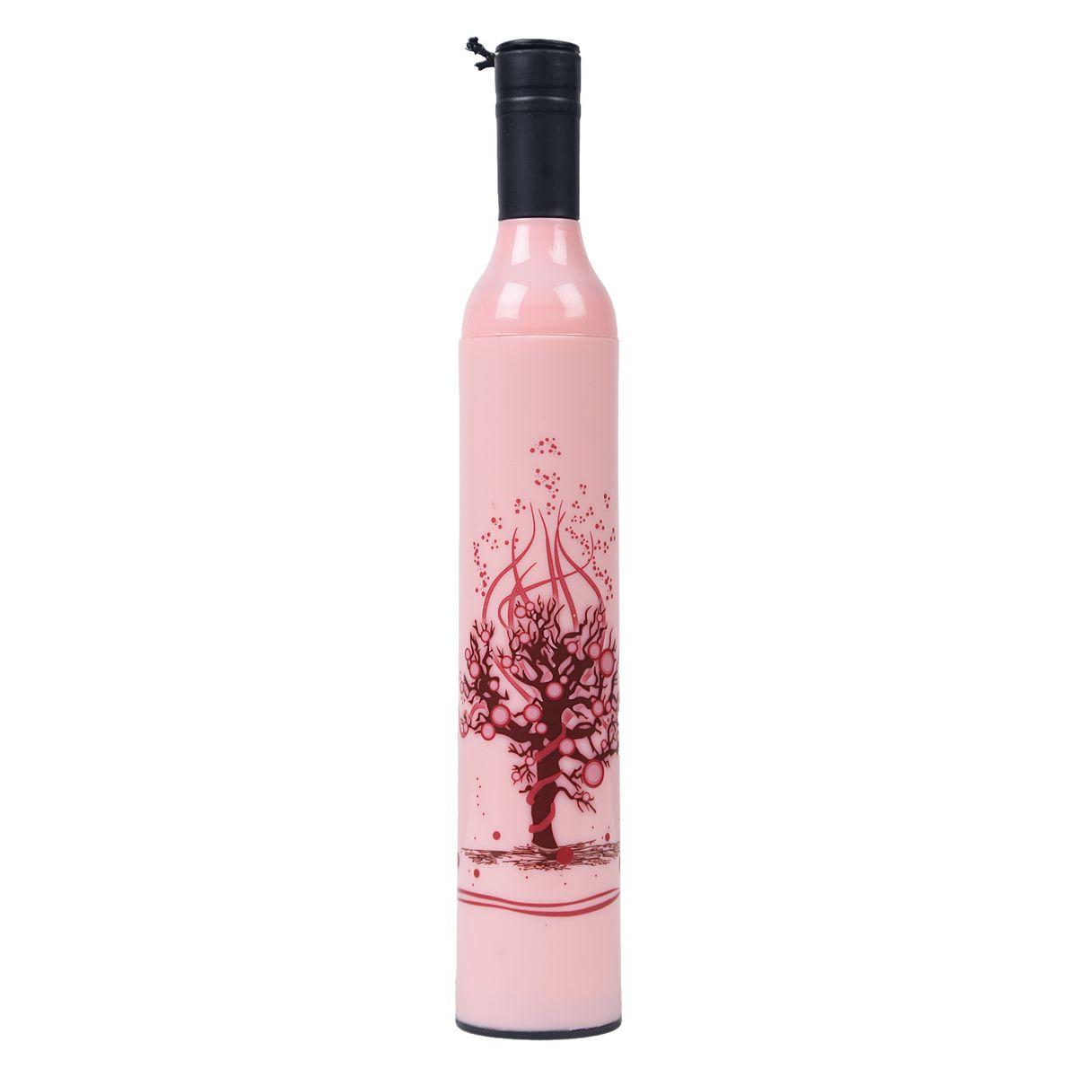 Sultaan Fashionable Wine Bottle Pink Cover Travel Umbrella