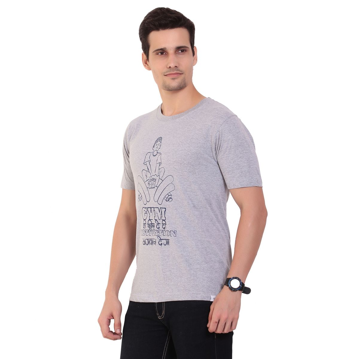 Gym Ki Fees M Grey For Men