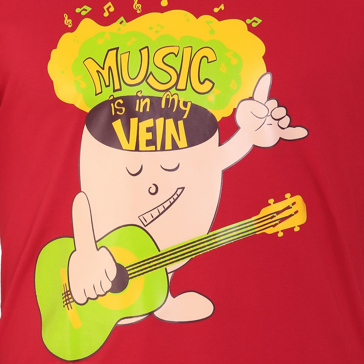 Music Is In My Veins Red For Men