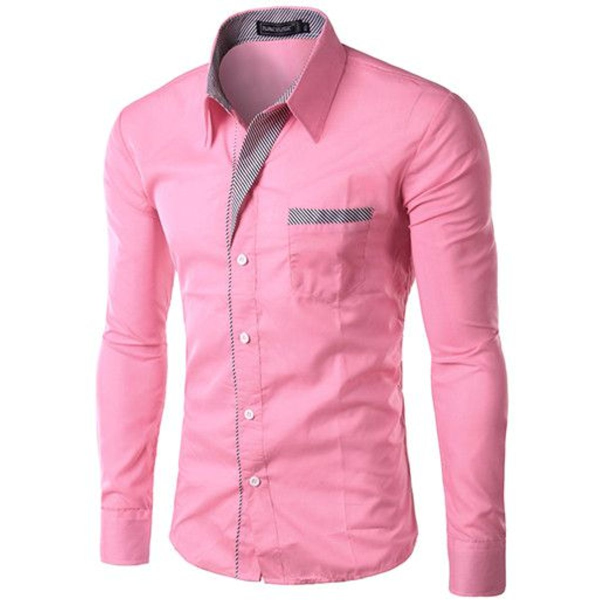 New Fancy Pink Cotton Formal men Shirt