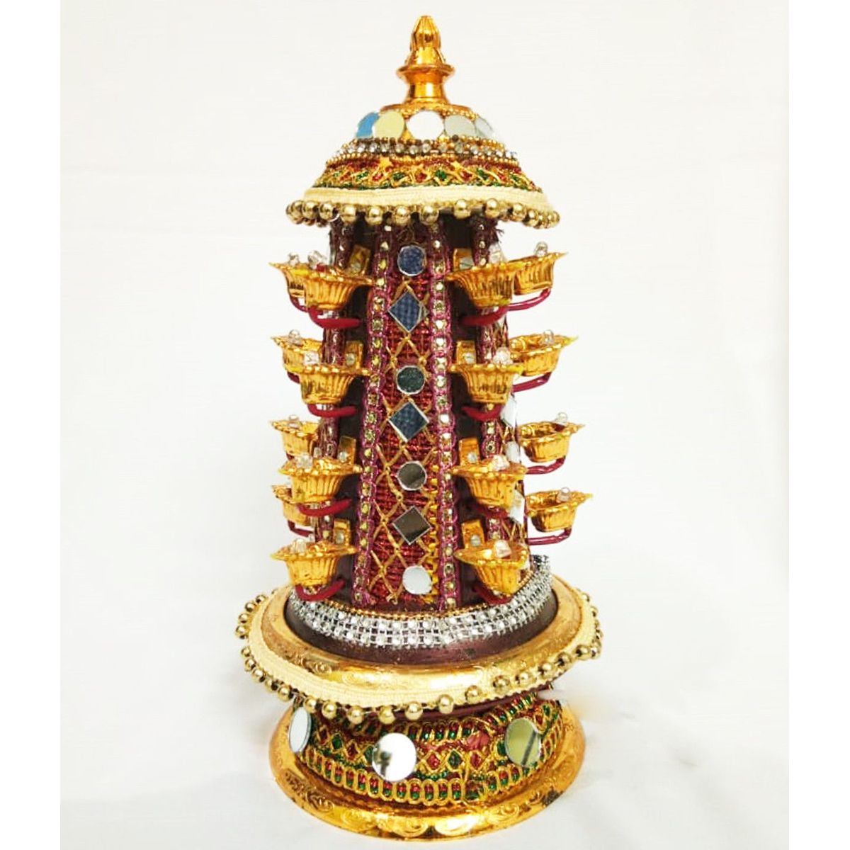 Tirumala deep 16 diya rotating thali