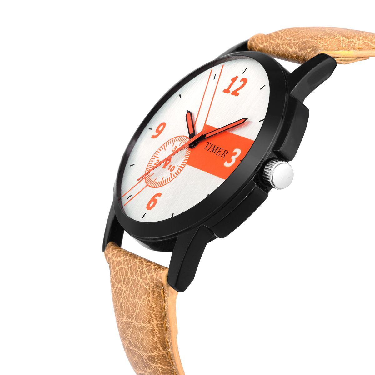 Timer stylish sporty analog watch for boys TC-640