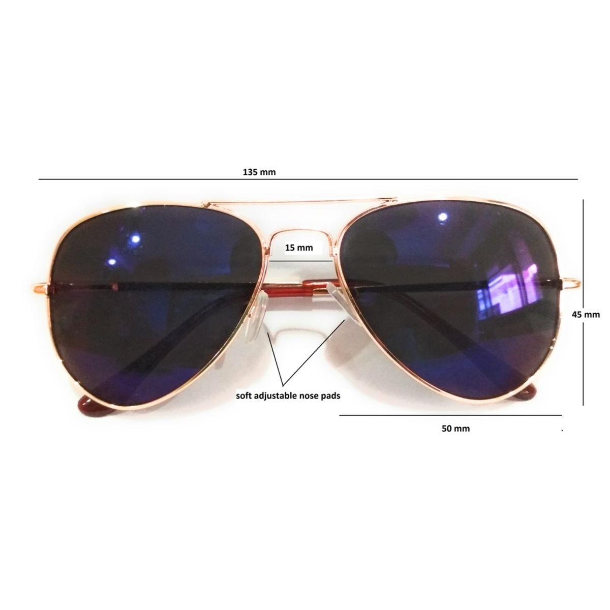 Aviator sunglasses for men women  blue aviator metal frame sunglasses.