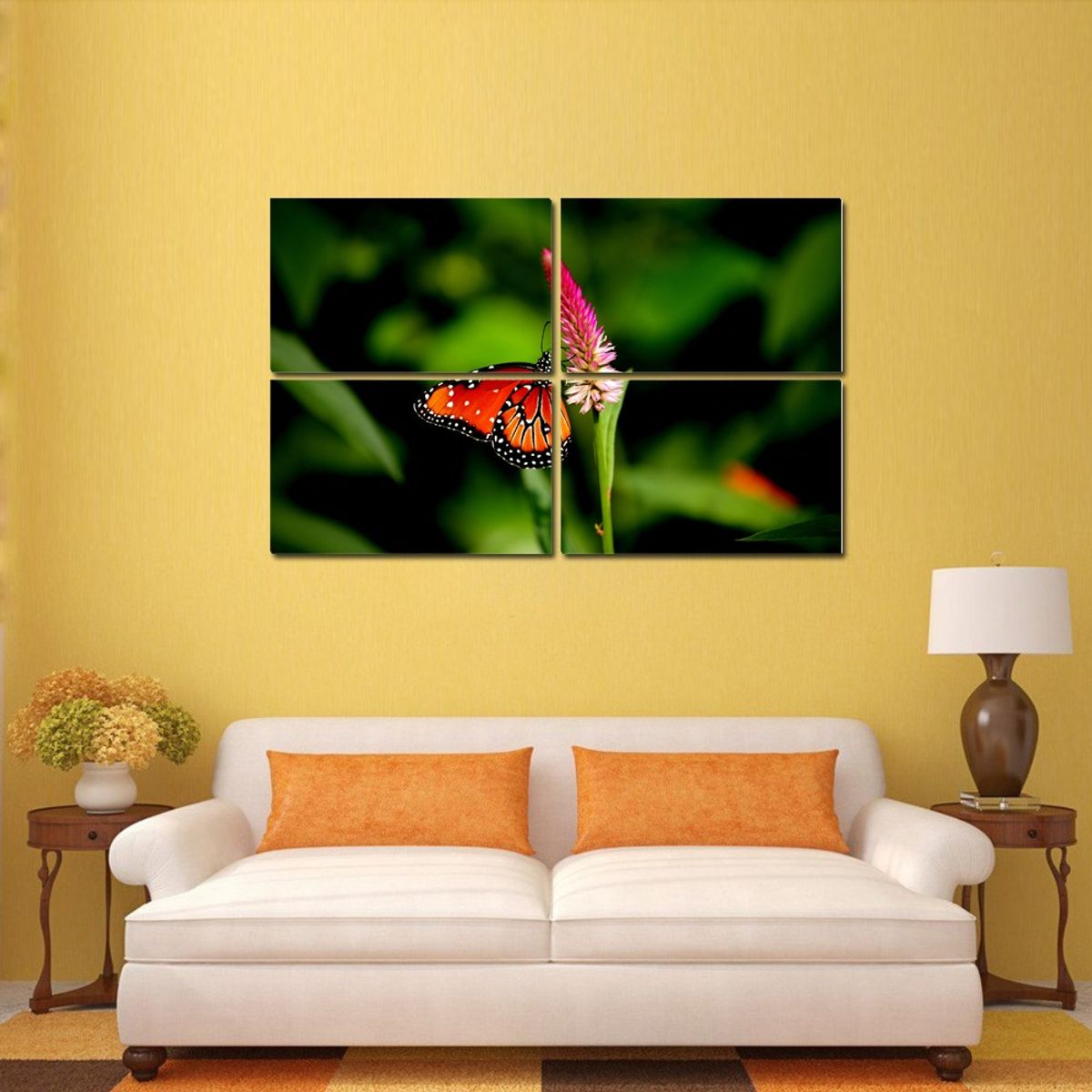Buy Butterfly 4 Panel Wall Art Painting at Lowest Price ...