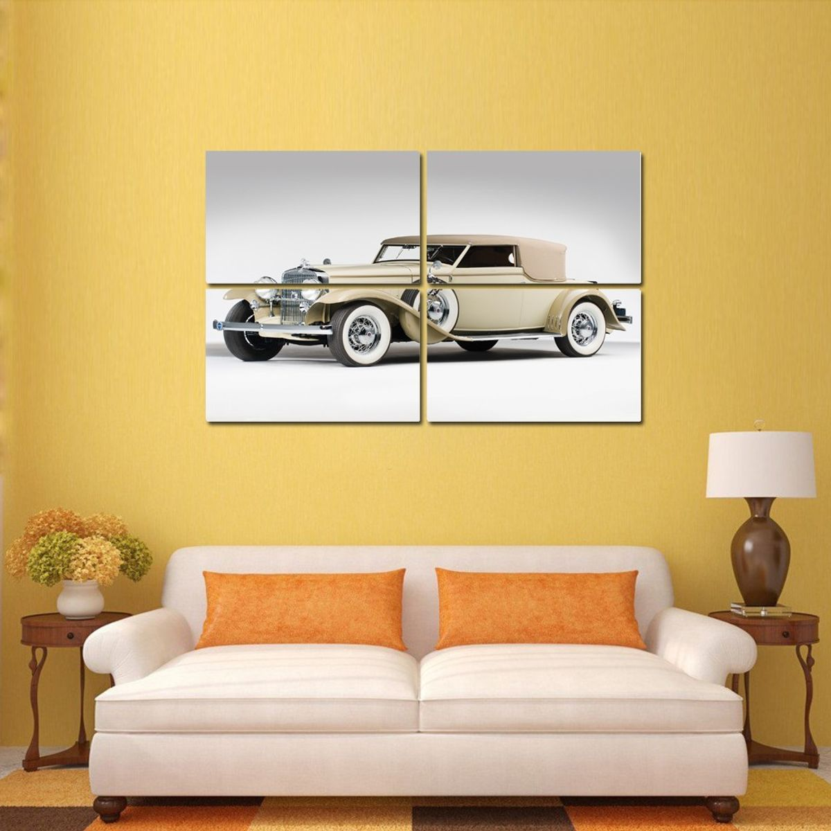 Buy CAR 4 Panel Wall Art Painting With UV at Lowest Price ...